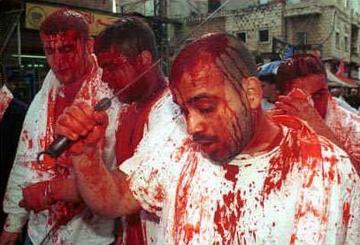 Muslims celebrates ashura in the city of kaballa in iraq ashura
