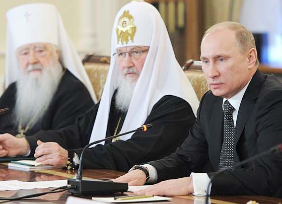 """Putin and the Orthodox Church work for the """"stability of Russia""""."""