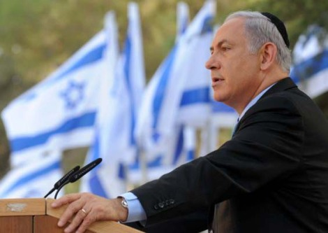 Benjamin Netanyahu turn the tables on the totalitarian forces who try to defame Israel.