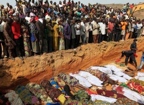Christian martyrs in Nigeria are buried in mass graves. The souls of their Muslim attackers will burn in Hell.