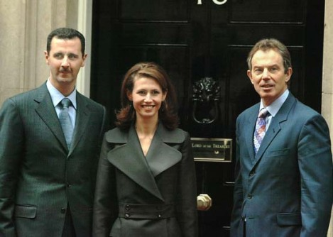 Happy days are here again. Prime Minister Tony Blair invited the Syrian dictator to Downing street 10 in 2002.