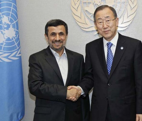 Mahmoud Ahmadinejad is always given a red carpet welcome in the United Nations.