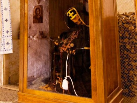 "The EU sponsor a monastery where a skeleton has been dressed up in priestly garments and declared ""holy""."
