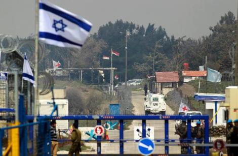 Israel's border crossing with Syria on the Golan Height's.