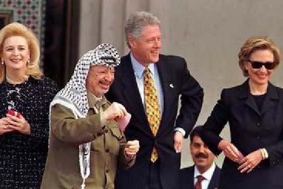 "Bill Clinton opened ""Yasser Arafat airport"" in Gaza in 1998."