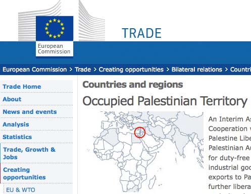 "The EU claim Israel is an ""occupying power""."