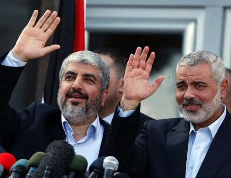 Khaled Mashaal and Ismail Hanyet promise their subjects to destroy Israel.
