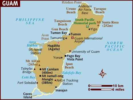 The distance from Cocos Island to Andersen Air force base on Guam, is like the distance from Jerusalem to Ramallah.