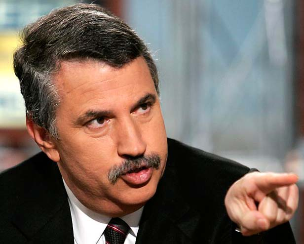 Thomas Friedman points his finger towards Netanyahu, but will not lift a finger to help the Zionists.
