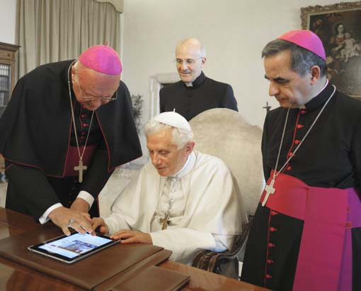The Pope on twitter is the claimed successor of the emperor of ancient Rome.