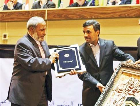 Mahmoud Zahar gets blessings and support from Mahmoud Ahmadinejad. Together they will destroy Israel.