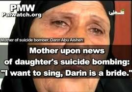 In a separate story, photo of mother approving daughter's suicide bombing.