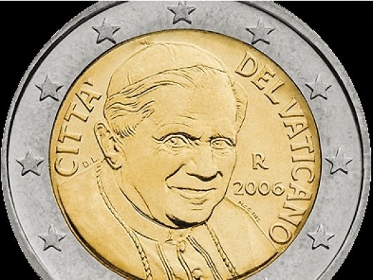 Like a modern Ceacar, the Pope has managed to smile from the Euro.