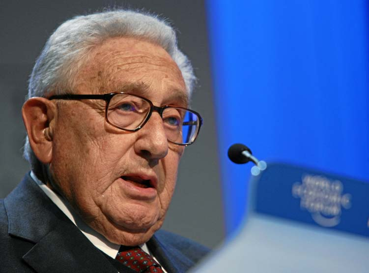 Henry Kissinger at the World summit in Davos in 2008.