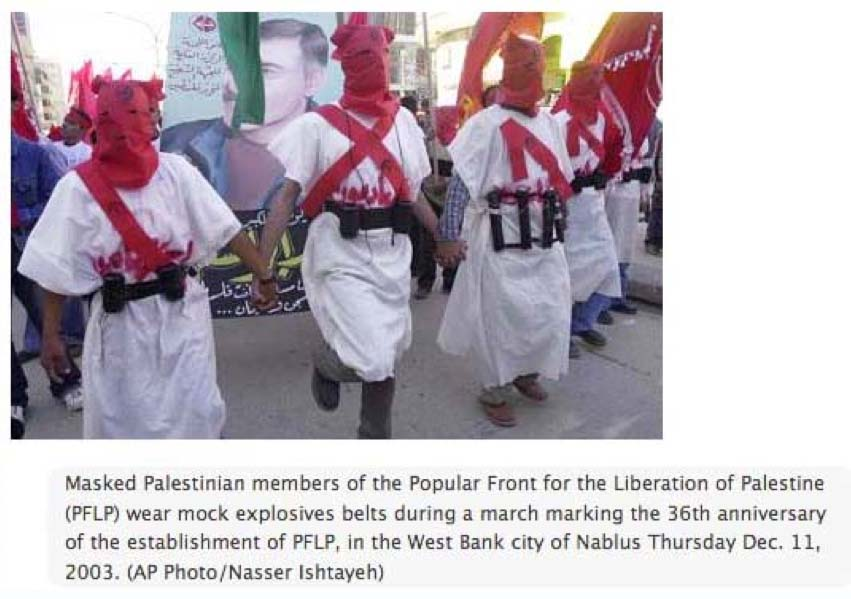 PFLP use suicide bombers to target civilians in the Middle East.