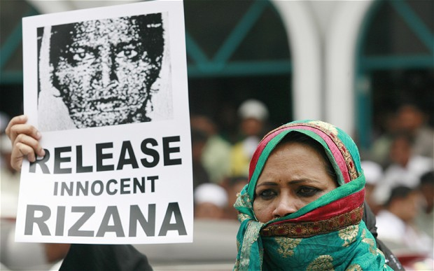 It is to late for Rizana. The barbarians in Saudi Arabia showed their true colors.
