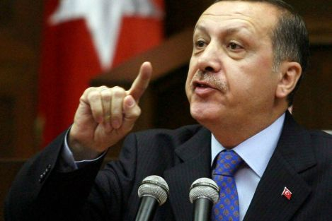 The Turkish PM can hardly wait for a chance to demonize or defame Israel.