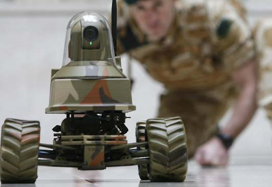 "The news ""killer robots"" can easily get all men who are ""tagged"""