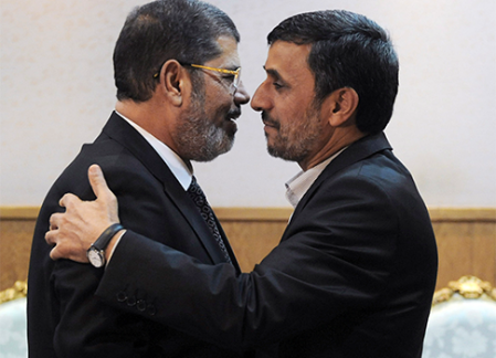 Two en, the same vision. Mahmoud Ahmadinejad traveled to Cairo to gain support for Anti-Zionism.