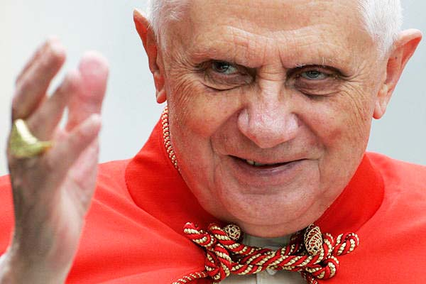 """The Pope claims """"god"""" wanted him to leave the office of the """"Holy see""""."""