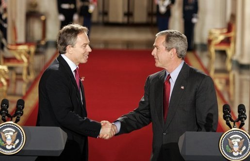 Blair and Bush has blood of innocent Iraqis on their hands.