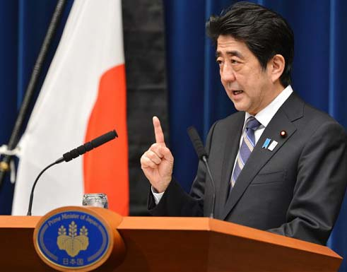 The Japanese PM wants to white wash the Japanese war crimes of its fascist past.