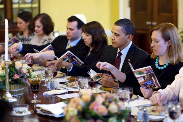 Obama will this week eat his fifth passover seeder, seated in the White House.