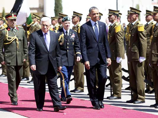 With 500 million USD iin his pockets, Obama was sure of a red carpet welcome in Ramallah.