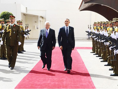 Obama got a red carpet welcome when he brought more cash with him to Ramallah.