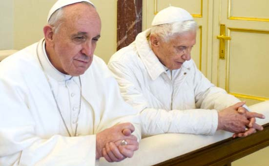 Two Popes who claims to be the true Jews, the chosen people of God.