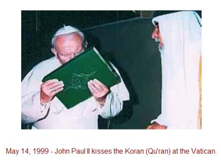 Pope+kissing+quran