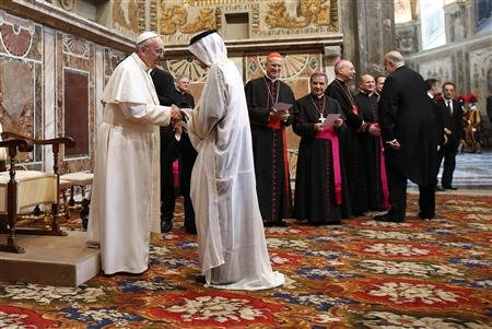 The Vatican has an excellent relationship with the Muslim World.