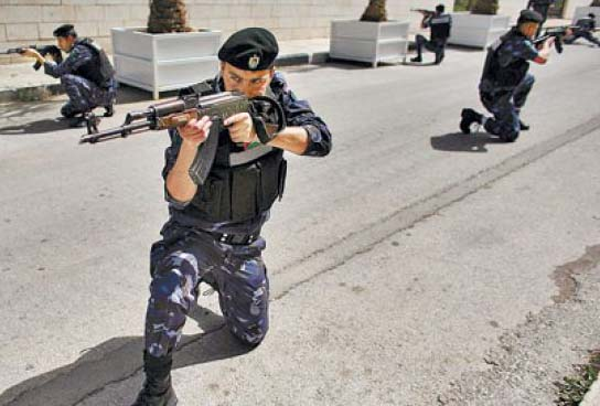 The US Dayton Forces who secure the totalitarian PLO's regime in Ramallah.