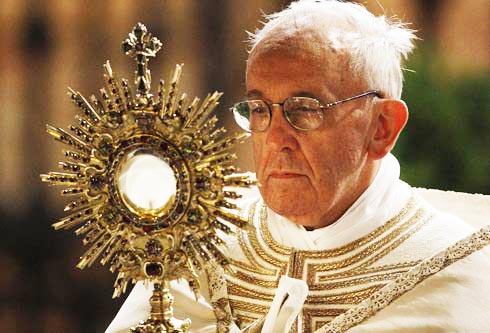 The Pope and the Eucharist is lawlessness in practice.
