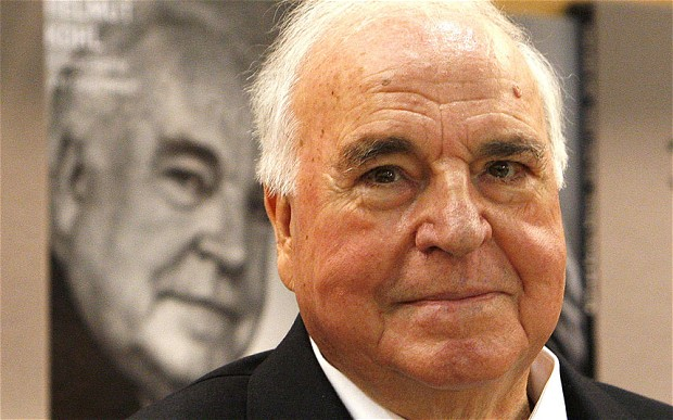 Helmout Kohl claims he acted like a dictator to get rid of the German mark.