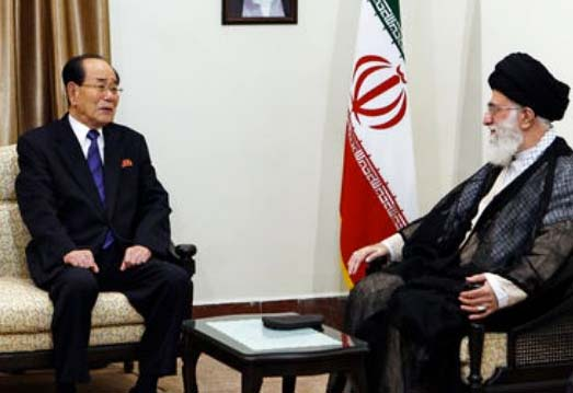 """North Korea and Iran has agreed to defend each other against the """"great Satan"""" of America."""