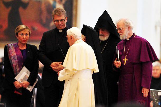 "A colorful gathering of spiritual harlots, haling the 'holy see""."