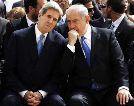 John Kerry tries to deceive and bribe Benjamin Netanyahu to abandon Zionism.