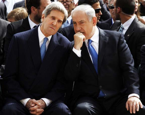 John Kerry tries to deceive and bribe Benjamin Netanyahu to abandon Zionism.