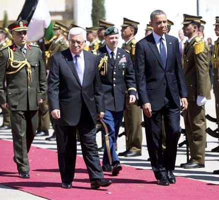 President Obama gets a red carpet welcome in Ramallah.