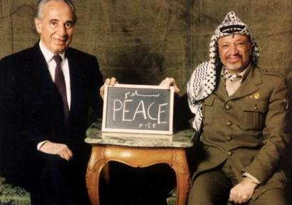 "Shimon Peres have tried it all. Also accpeting PLO-leader Yasser Arafat as a ""Pecemaker""."
