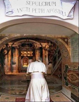 "Late Pope John Paul II consult the spirits of the dead in the tombs, this one claimed to be ""Peter""s""."