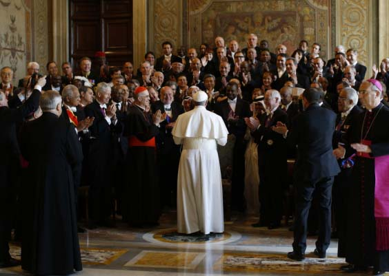 The Pope is the ultimate deceiver of the whole World, having 180 ambassadors bowing before him.