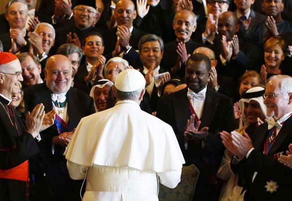 The World loves the Pope, and the Pope loves the World.