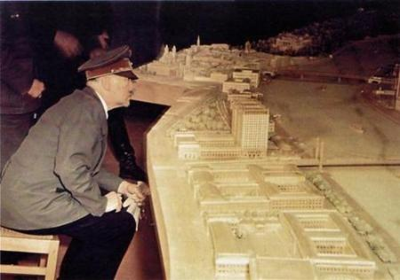 Hitler study the plans for the eternal capital of the World, Germania.