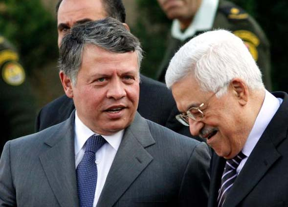 King Abdullah of Jordan support the PLO and Holocaust denier Abu Mazen.