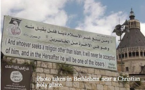 Islam has pushed almost all Christians out of Bethlehem.