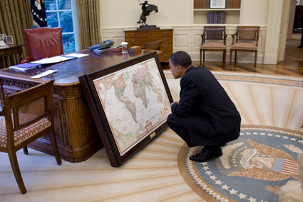 Barack Hussein Obama search for the tools needed to control the whole World.