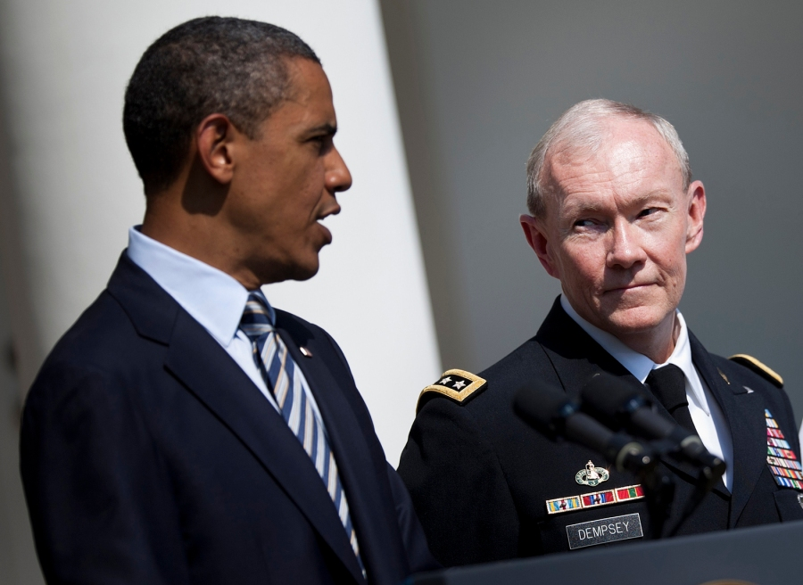 Dempsy will not remain the Chief of Staff in the Pentagon if he disobey Hussein Obama.
