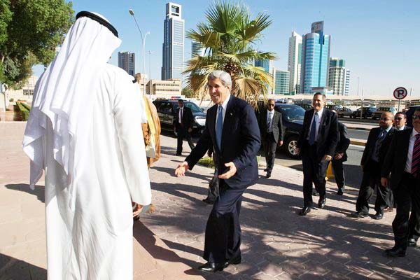 "John Kerry accept Islamic ""peace plans"" with open arms. Here in Kuwait."